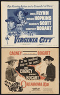 "Movie Posters:Western, The Oklahoma Kid Lot (Dominant Pictures, R-1956). Title Lobby Cards (2) (11"" X 14""). Western.. ... (Total: 2 Items)"