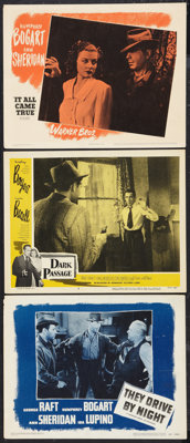 """They Drive by Night (Warner Brothers, R-1948). Lobby Cards (3) (11"""" X 14""""). Drama. ... (Total: 3 Items)"""