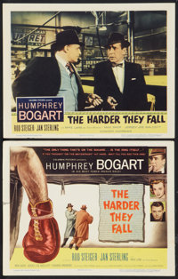 """The Harder They Fall (Columbia, 1956). Title Lobby Card and Lobby Card (11"""" X 14""""). Drama. ... (Total: 2 Items..."""