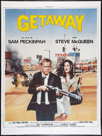 """The Getaway (National General, R-1985). French Grande (47"""" X 63""""). Action"""