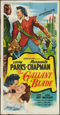 "The Gallant Blade (Columbia, 1948). Three Sheet (41"" X 81""). Swashbuckler"