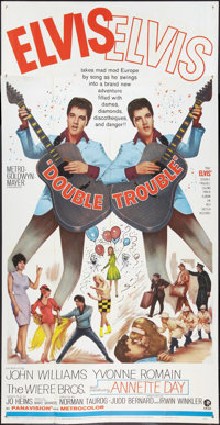 "Double Trouble (MGM, 1967). Three Sheet (41"" X 81""). Elvis Presley"