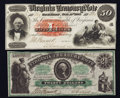 Obsoletes By State:Virginia, Richmond, VA- Virginia Treasury Note $20 July 1, 1861 Cr. 3. Richmond, VA- Virginia Treasury Note $50 Oct. 15, 1862 Cr. ... (Total: 2 notes)