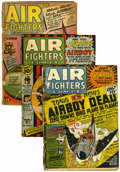 Golden Age (1938-1955):War, Air Fighters Comics Group (Hillman Fall, 1942-45).... (Total: 5Comic Books)
