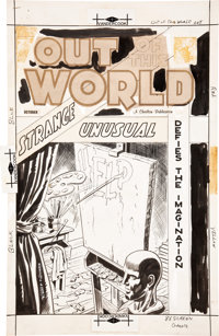 Charles Nicholas and Vince Alascia Out of This World #10 Cover Original Art (Charlton, 1958)