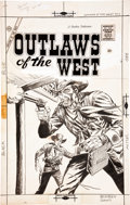 Original Comic Art:Covers, Rocco Mastroserio (attributed) Outlaws of the West #17 CoverOriginal Art (Charlton, 1958)....