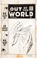 Original Comic Art:Covers, Maurice Whitman Out of This World #8 Cover Original Art(Charlton, 1958)....