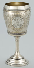 Silver Holloware, American:Water Goblet, AN AMERICAN SILVER AND SILVER GILT WATER GOBLET . WhitingManufacturing Company, New York, New York, circa 1874. Marks:(gri...
