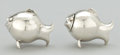 Silver Smalls:Other , A PAIR OF MEXICAN SILVER FIGURAL SALT AND PEPPER SHAKERS . Makerunidentified, Mexico, circa 1950. Marks: JF (conjoined)...(Total: 2 Items)