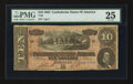 Confederate Notes:1864 Issues, T68 $10 1864 PF-21 Cr. 547 Serial Number One.. ...