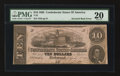 Confederate Notes:1862 Issues, T52 $10 1862 PF-9IB Cr.373IB CC.. ...