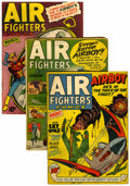 Golden Age (1938-1955):War, Air Fighters Comics V1#11 and V2#4 and 6 Group (Hillman Fall,1943-44).... (Total: 3 Comic Books)