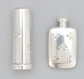 Silver Smalls:Other , AN AMERICAN SILVER LIPSTICK CASE AND PERFUME BOTTLE . Tiffany &Co., New York, New York, circa 1950. Marks to lipstick case:...(Total: 2 Items)