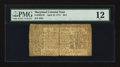 Colonial Notes:Maryland, Maryland April 10, 1774 $2/3 PMG Fine 12.. ...