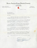 Baseball Collectibles:Others, 1934 Eddie Collins Signed Letter. ...