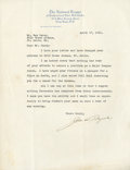 Baseball Collectibles:Others, 1931 John Heydler Signed Letter. ...