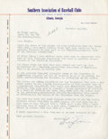 Baseball Collectibles:Others, 1942 Billy Evans Signed Letter....
