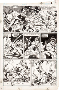John Buscema and Al Williamson Wolverine #1 page 18 Original Art (Marvel, 1988).... (Total: 2 Items)