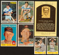 Baseball Cards:Autographs, Signed Baseball Card Group (7) With Killebrew, Spahn and Musial. ...