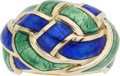 Estate Jewelry:Rings, Enamel, Gold Ring, Jean Schlumberger for Tiffany & Co.. ...