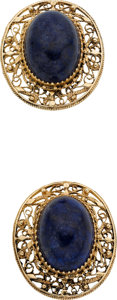 Estate Jewelry:Suites, Lapis Lazuli, Gold Suite. ... (Total: 2 Items)