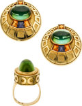 Estate Jewelry:Suites, Tourmaline, Citrine, Amethyst, Gold Jewelry Suite, Silverhorn. ...(Total: 3 Items)