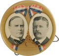 """Political:Pinback Buttons (1896-present), McKinley & Roosevelt: An Imposing 4"""" Jugate Celluloid in Beautiful Condition. One of the most familiar political button desi..."""
