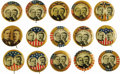 """Political:Pinback Buttons (1896-present), McKinley & Roosevelt: A Wonderful Collection of 1¼"""" Jugates from the 1900 Campaign including several Quite Unusual Variants.... (Total: 15 )"""