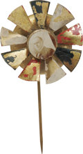 Political:Small Miscellaneous (pre-1896), William McKinley: A Most Unusual Pinwheel Mechanical Stick Pin We do not recall having handled this variety before. A sepia ...