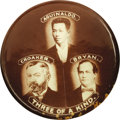 Political:Pinback Buttons (1896-present), Rare Anti-Bryan Button Lumping Him with Notorious Scoundrels. This 1900 issue attempts to smear Bryan by putting him in the ...