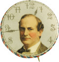 """Political:Pinback Buttons (1896-present), William Jennings Bryan: Classic """"16 to 1"""" Portrait Button. This scarce and colorful variety has always been a collector favo..."""