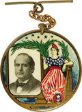 """Political:Pinback Buttons (1896-present), William Jennings Bryan: A Dazzling 1¾"""" Multicolor Celluloid Fromthe 1908 Campaign. Many consider the elaborate multicolor a..."""
