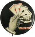 """Political:Pinback Buttons (1896-present), Theodore Roosevelt: Classic """"Stand Pat"""" Design in the Much Rarer 1"""" Version. There are probably 100 copies of the familiar 1..."""