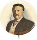 """Political:Pinback Buttons (1896-present), Theodore Roosevelt: A Choice, Large, and Colorful 1912 Pinback. Definitely attributable to the 1912 """"Bull Moose"""" campaign, a..."""