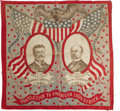 Political:Textile Display (1896-present), Roosevelt & Fairbanks: Colorful 1904 Bandanna. Near mint, with just a couple of trivial light brown marks, mentioned for acc...