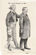 Political:Posters & Broadsides (1896-present), Teddy Roosevelt 1904 Campaign Cartoon Poster by Homer Davenport Homer Davenport was one of the most important political cart...