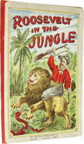 """Political:3D & Other Display (1896-present), George V. Sinclair, Roosevelt in the Jungle (Akron, Ohio: The Saalfield Publishing Company, n.d.), 14 pp., folio (9.5"""" x..."""