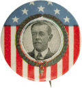 """Political:Pinback Buttons (1896-present), Woodrow Wilson: A Distinctive Multicolor 1¼"""" Button Rarity from His First Presidential Campaign in 1912. Identifiable as a 1..."""