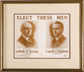 """Political:Posters & Broadsides (1896-present), 1916 McCall & Coolidge Massachusetts Governor Campaign Poster. 12.5"""" x 10"""", framed and matted under glass to an overall size..."""