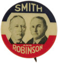 """Political:Pinback Buttons (1896-present), Smith & Robinson: Colorful 7/8""""Jugate Button. Especially difficult to obtain in this great, clean condition...."""