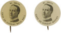 """Political:Pinback Buttons (1896-present), Al Smith: Pair of """"Gave Us"""" Buttons. Super pair of 7/8"""" Al Smith buttons reading """"Gave Us Sunday Base Ball"""" and """"Gave Us Sun... (Total: 2 )"""