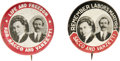 """Political:Pinback Buttons (1896-present), Pair of Jugate Sacco and Vanzetti 1"""" Pinbacks. Both of these buttons sport the same central device which is a portrait of Ni... (Total: 2 )"""