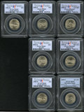Statehood Quarters: , 2005-D 25C California Satin MS69 PCGS, also includes a 2005-SMinnesota MS69 Satin Finish; 2005-P Kansas MS69 Satin Finis...(Total: 7 Coins Item)