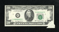 Error Notes:Foldovers, Fr. 2072-G $20 1977 Federal Reserve Note. Choice CrispUncirculated.. ...