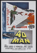 "Movie Posters:Science Fiction, 4D Man (Universal International, 1959). One Sheet (27"" X 41"") andPress Book (Multiple Pages). Sci-Fi Thriller. Starring Rob...(Total: 2 Items)"