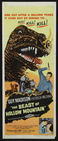 "Movie Posters:Science Fiction, The Beast of Hollow Mountain (United Artists, 1956). Insert (14"" X36""). Sci-Fi Western. Starring Guy Madison, Patricia Medi..."