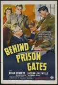 "Movie Posters:Crime, Behind Prison Gates (Columbia, 1939). One Sheet (27"" X 41""). Crime.Starring Brian Donlevy, Jacqueline Wells, Joseph Crehan,..."