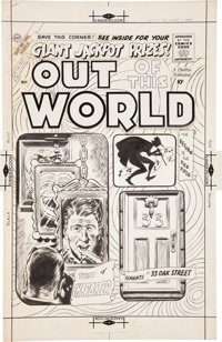 Out of This World #13 Cover Original Art (Charlton, 1959)