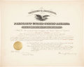 "Autographs:U.S. Presidents, Warren Harding Document Signed as president. One partially-printedpage, 20"" x 16"", ""the District of Columbia,"" May 12, ..."