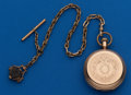 Timepieces:Pocket (post 1900), Hampden 18 Size Hunters Case With Chain. ...